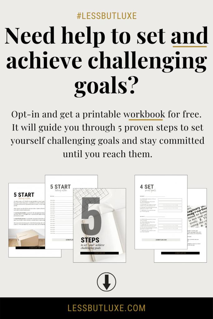 5 Steps Goal-Setting Workbook