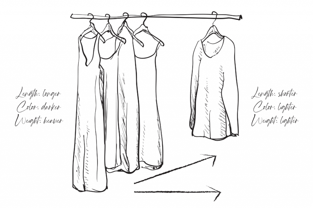 How to Sort Hung Clothes