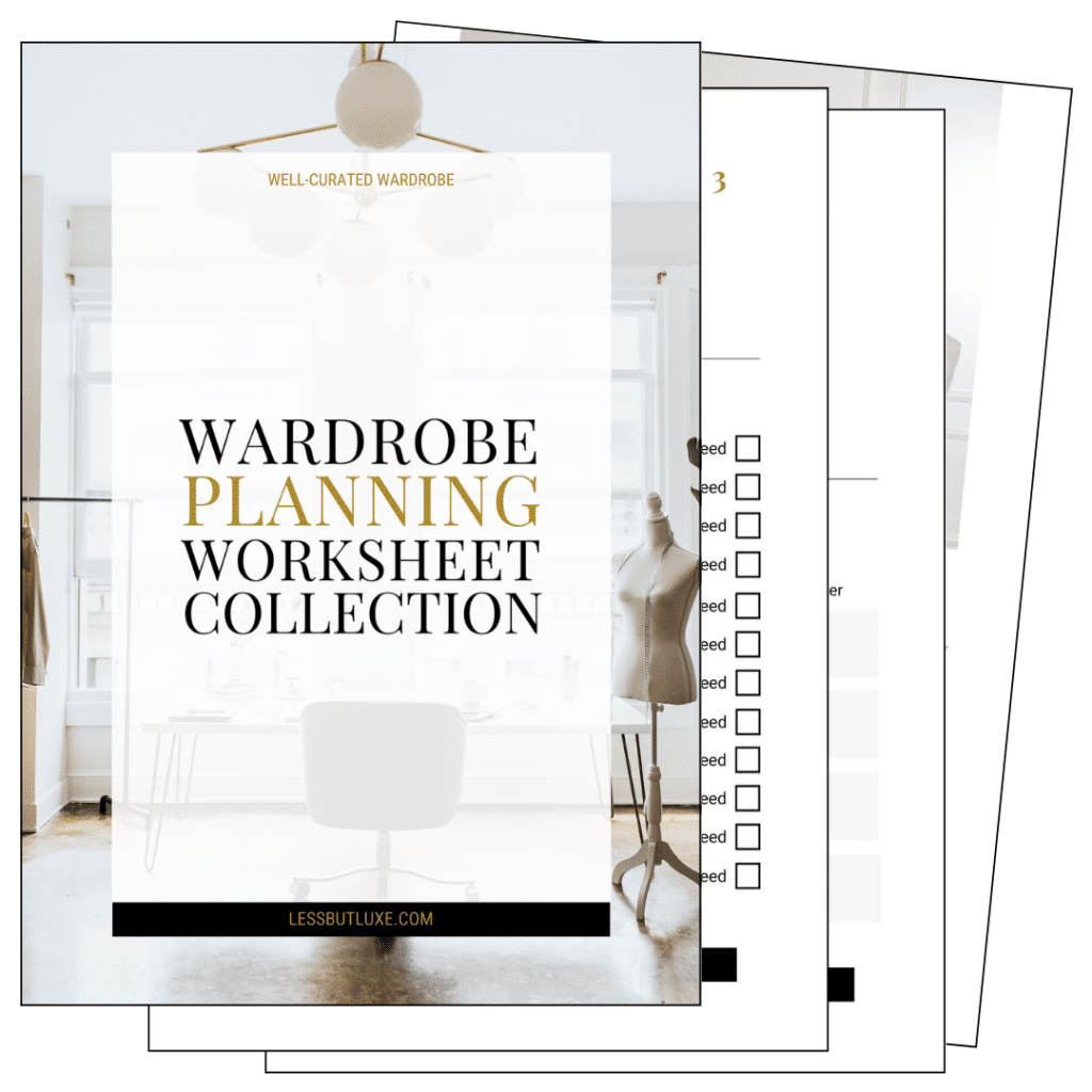 Wardrobe Planning Worksheets